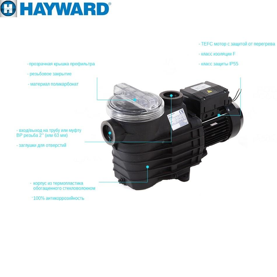 Насос Hayward SP2505XE83 EP50 (380V, 0,5HP)